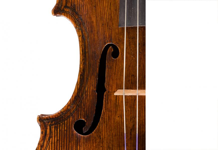 <p>Bass F of Maggini viola</p>